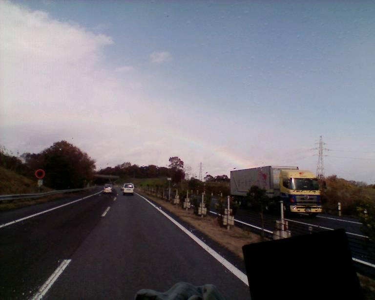虹ですよー